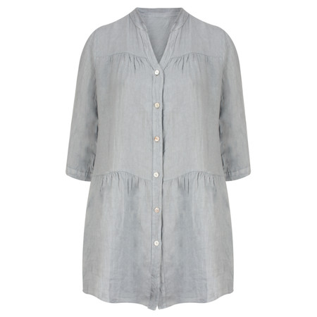 TOC  Della Oversized Tunic Shirt - Blue