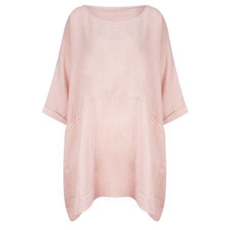 TOC  Dessie Oversized Tunic with Pocket - Pink