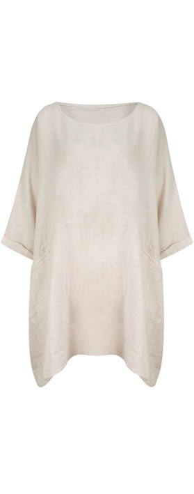TOC  Dessie Oversized Tunic with Pocket Stone