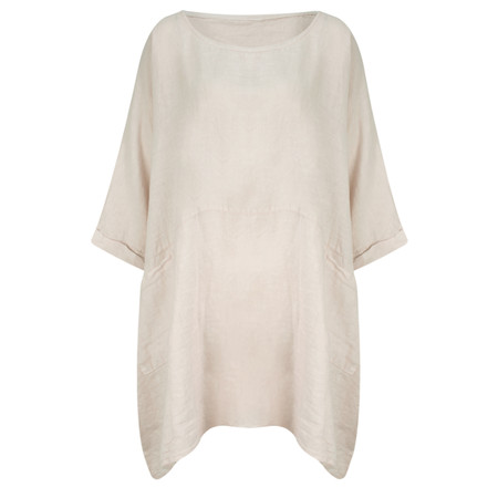 TOC  Dessie Oversized Tunic with Pocket - Grey