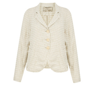 Grizas Short Linen Jacquard Jacket