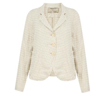 Grizas Short Linen Jacquard Jacket - Beige
