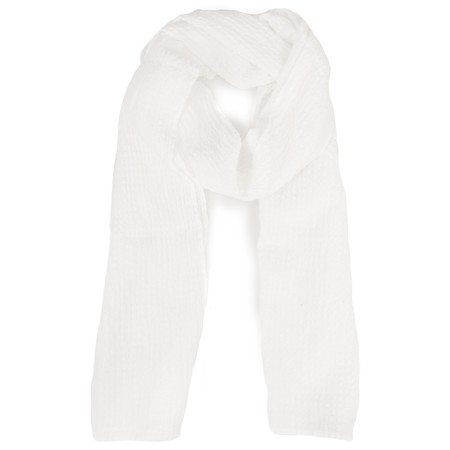 Grizas Silk and Cotton Check Scarf - Off-white