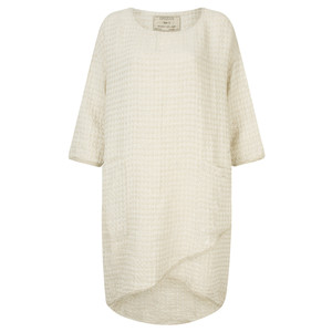 Grizas Linen Jacquard Tunic Dress