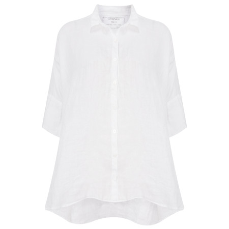 Grizas Linen Easy-fit Shirt  - White