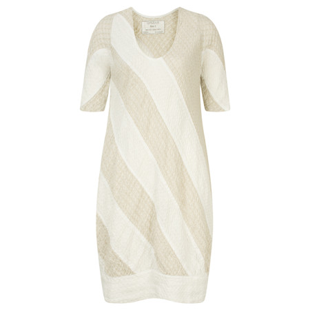 Grizas Linen Panelled Tunic Dress - White