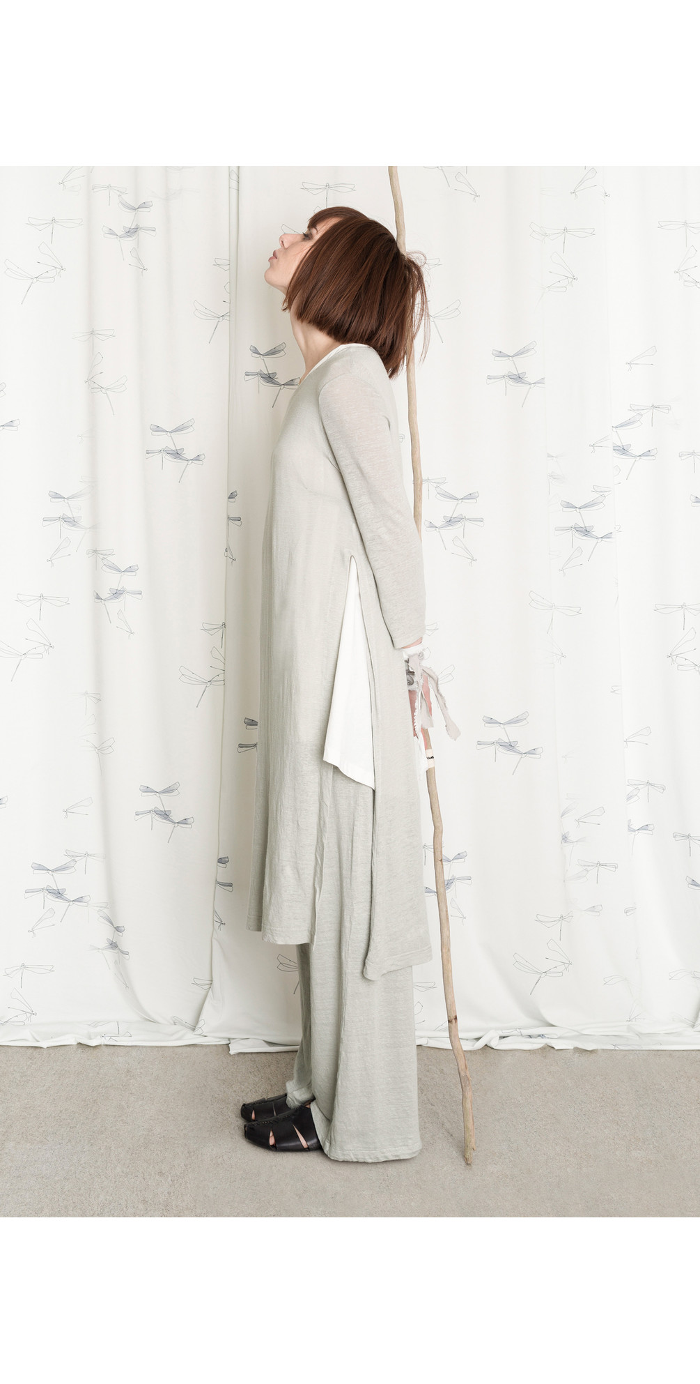 Inca Slub Linen Tunic Dress main image