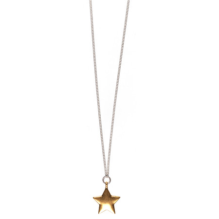 Hult Quist  Star Long Necklace - Silver/gold