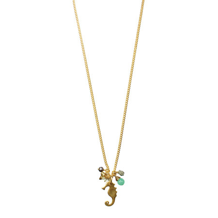 Hult Quist  Seahorse Long Necklace - Metallic
