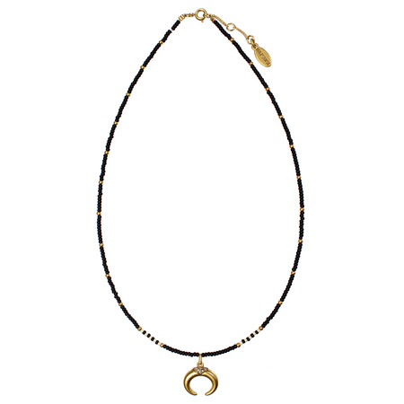 Hult Quist  Beaded Horn Short Necklace - Metallic