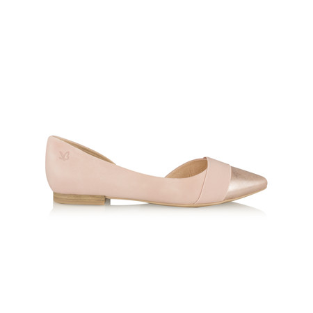 Caprice Footwear Leather Ballet Pump - Pink