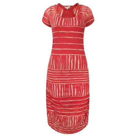 Sandwich Clothing Stripe Print Crinkle Dress - Pink