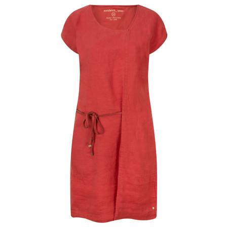 Sandwich Clothing Linen Tie Detail Dress - Pink