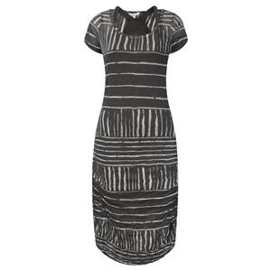 Sandwich Clothing Stripe Print Crinkle Dress