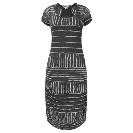Sandwich Clothing Stripe Print Crinkle Dress - Black