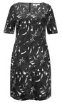 Sandwich Clothing Almost Black Woven Cotton Print Dress