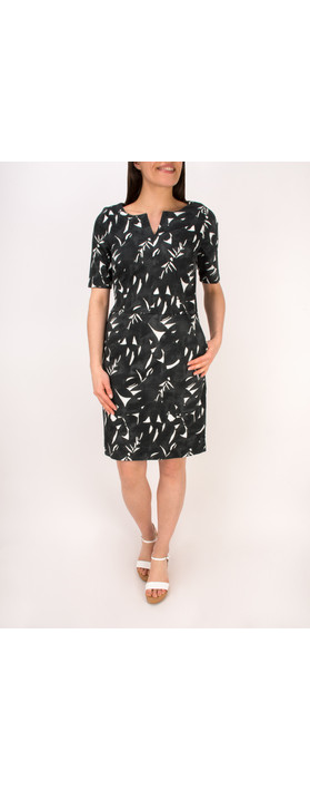 Sandwich Clothing Woven Cotton Print Dress Almost Black