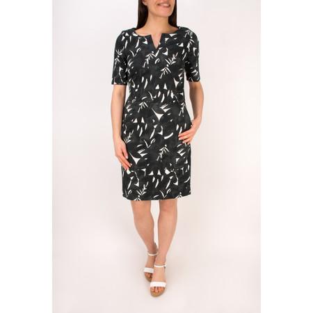 Sandwich Clothing Woven Cotton Print Dress - Black