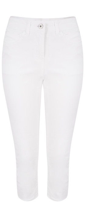 Sandwich Clothing High Waist Skinny Stretch Casual Trouser Pure White