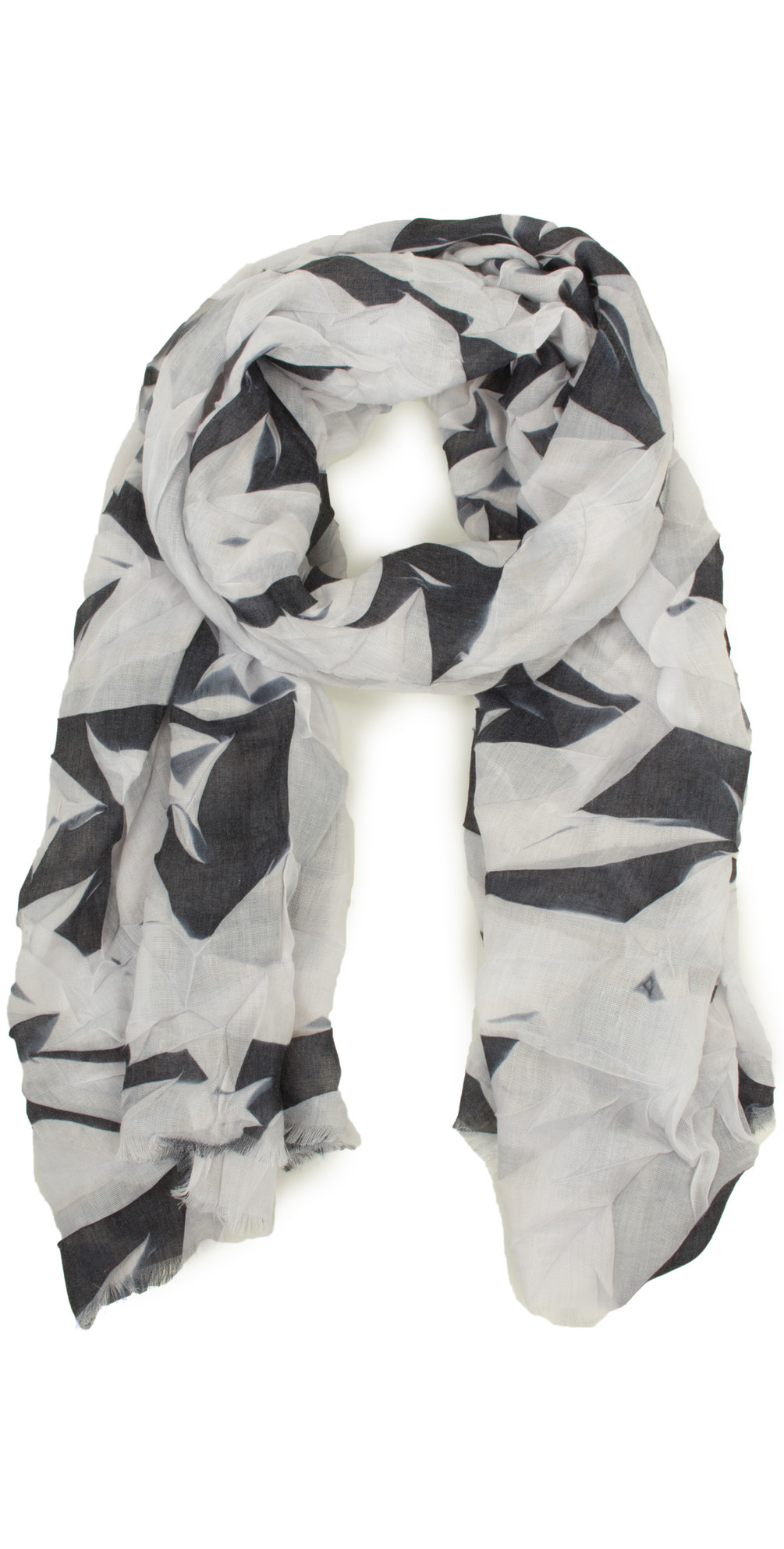 Abstract Leaf Print Scarf main image