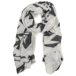 Sandwich Clothing Abstract Leaf Print Scarf