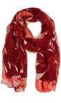 Sandwich Clothing Summer Rose Abstract Print Modal Scarf