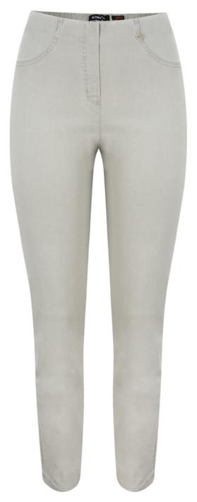 Robell Trousers Bella Slim Fit Full Length Jean Light Grey