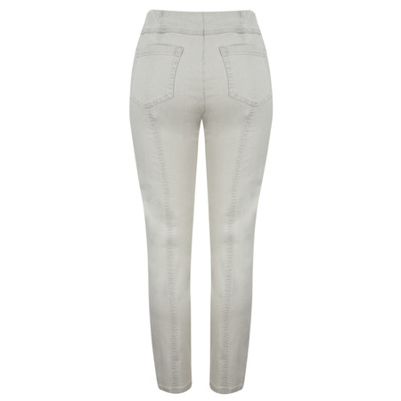 Robell Trousers Bella Slim Fit Full Length Jean - Grey