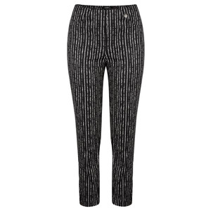 Robell Trousers Bella 09 Paintstripe 7/8 Cropped Trouser