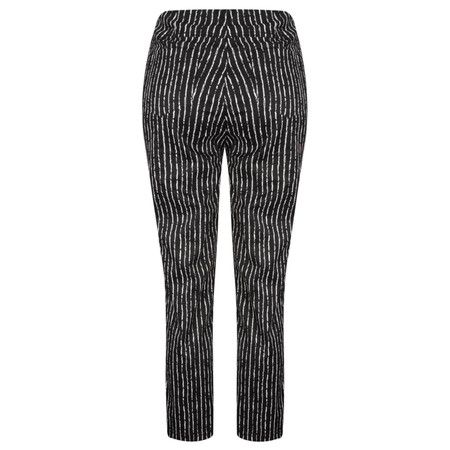 Robell Trousers Bella 09 Paintstripe 7/8 Cropped Trouser - Black