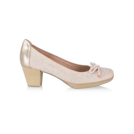 Marco Tozzi Metallic Imit Shoe - Pink