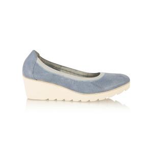 Marco Tozzi Elasticated Leather Wedge Shoe