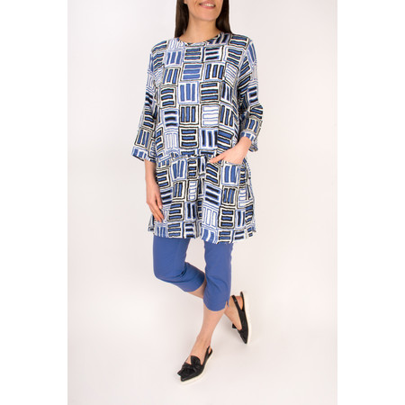 Masai Clothing Galita  A-shape Tunic - Blue