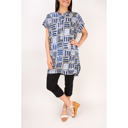 Masai Clothing Gizina Oversize Tunic - Blue