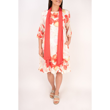 Masai Clothing Nani Floral Print Dress - Red