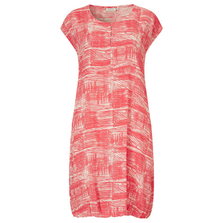 Masai Clothing Hadia Scribble Print Tunic Dress  - Red