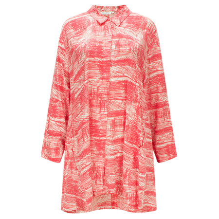 Masai Clothing Idella Scribble Print Blouse - Red