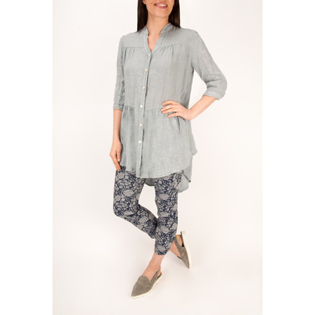Robell Trousers Bella 09 Rose Print 7/8 Cropped Trouser - Blue