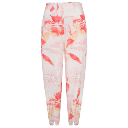 Masai Clothing Pamela Floral Print Trousers - Red