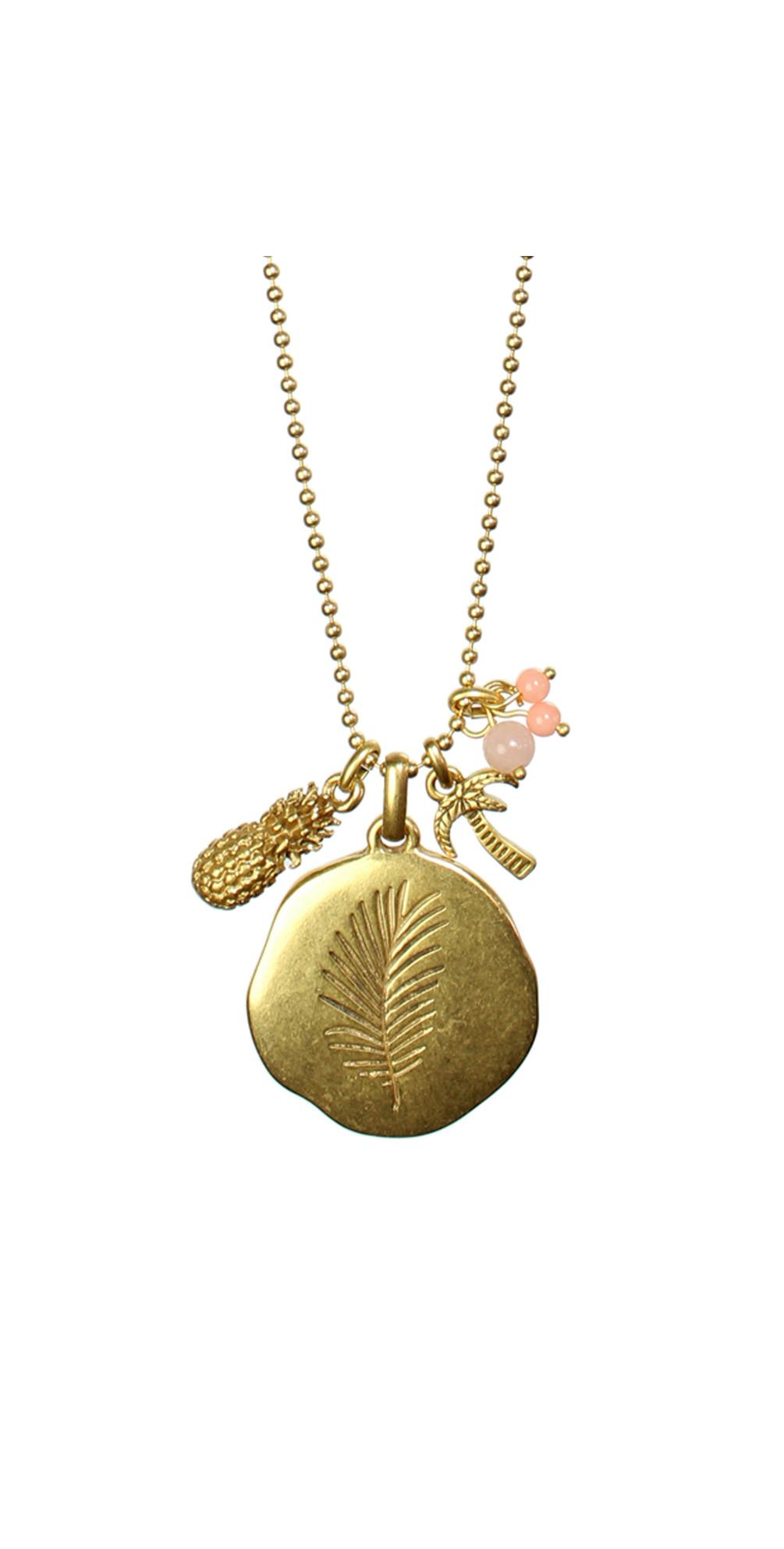 Long Palm Leaf Necklace main image