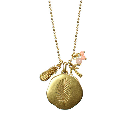 Hult Quist  Long Palm Leaf Necklace - Gold