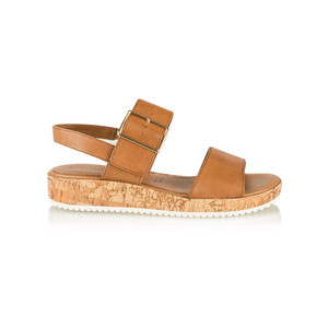 Tamaris  Leather Double Strap Sandal with Buckle