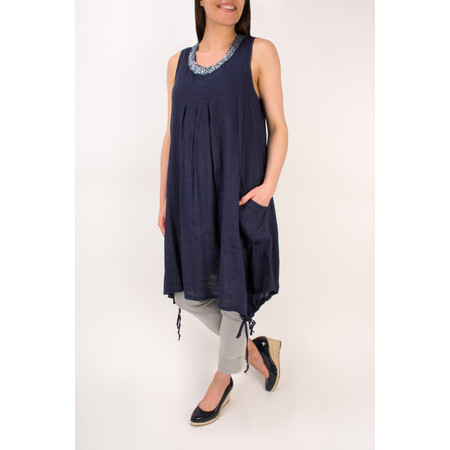 Arka Maree Sequin Linen Tunic Dress - Blue