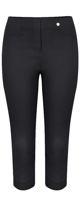 Robell Trousers Rose 07 Slimfit Cropped Trouser Navy