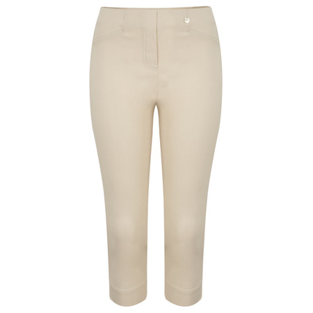 Robell Trousers Rose 07 Slimfit Cropped Trouser - Beige