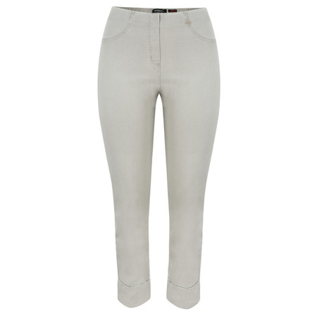 Robell Trousers Bella 7/8 Cropped Jean - Grey