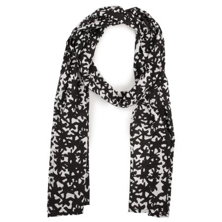 Masai Clothing Abstract Black & White Along scarf - Black