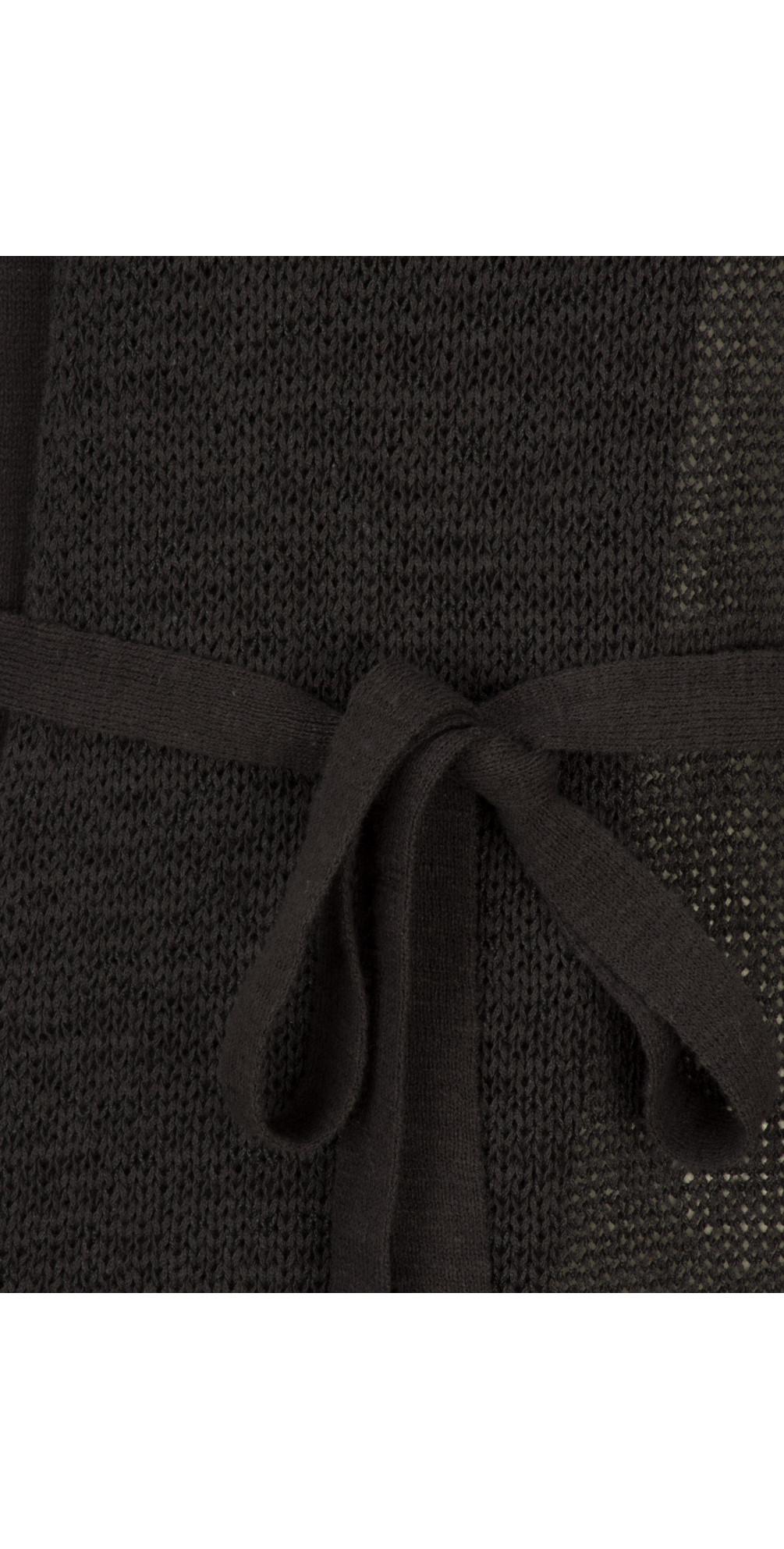 Woven Sleeveless Top With Waist Tie main image