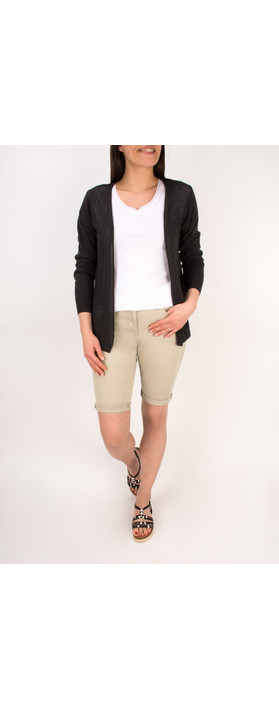 Sandwich Clothing Woven Cotton Cardigan Almost Black