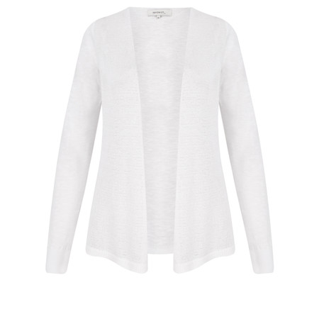 Sandwich Clothing Woven Cotton Cardigan - White